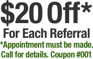 $20 Off*